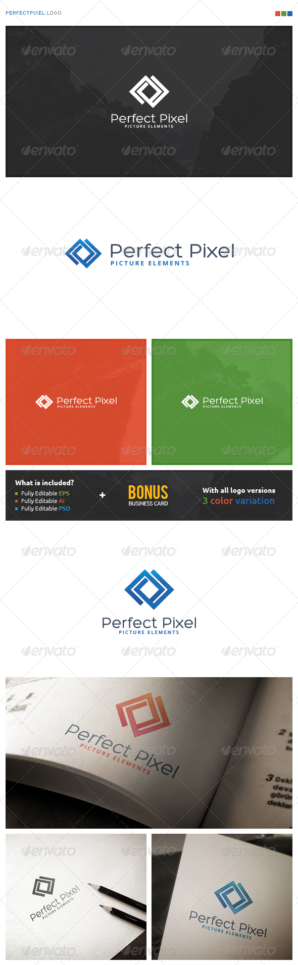 Perfect Pixel Logo - Symbols Logo Templates