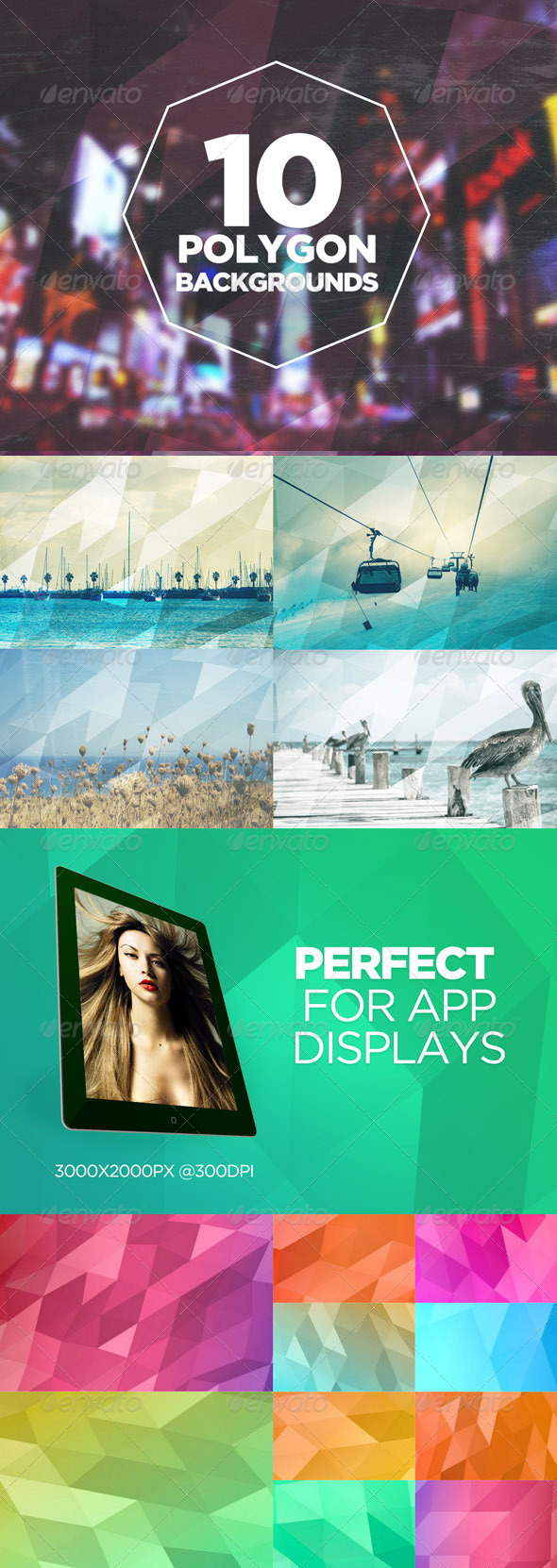 GraphicRiver 10 Polygon Backgrounds 7659623