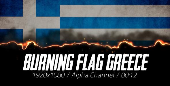 Burning Flag Greece