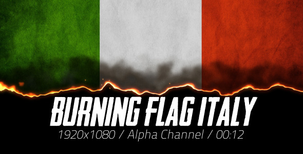 Burning Flag Italy