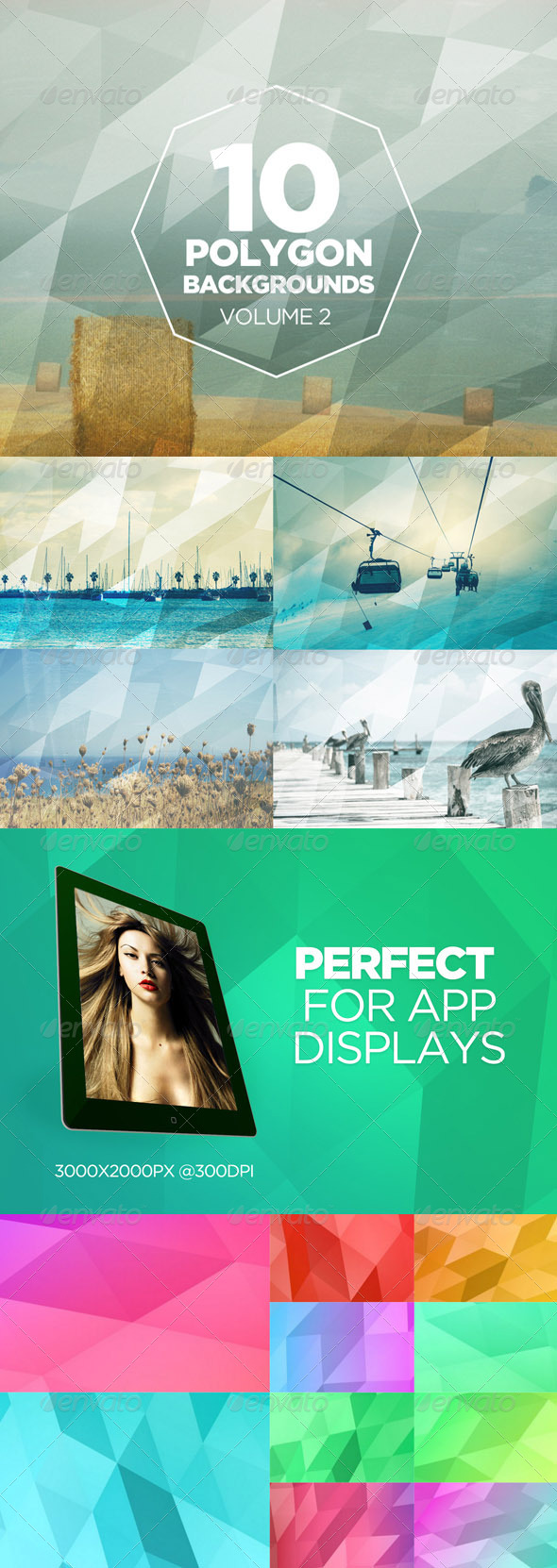 GraphicRiver 10 Polygon Backgrounds Volume 2 7659957