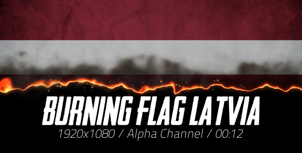 Burning Flag Latvia