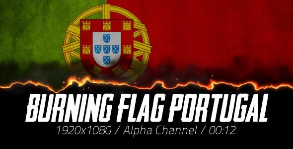Burning Flag Portugal