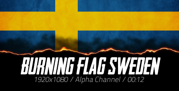 Burning Flag Sweden
