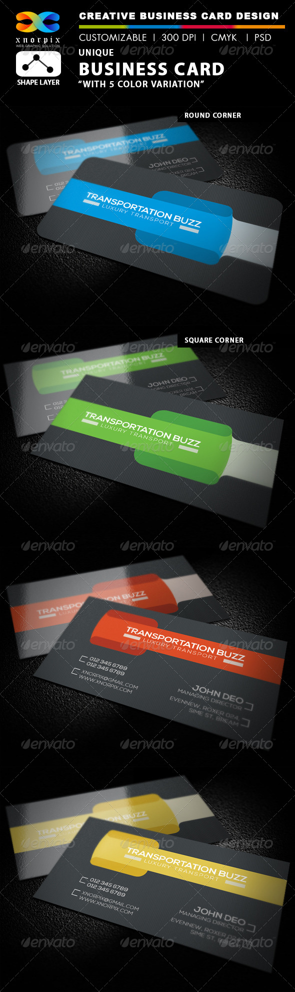 GraphicRiver Transport Business Card 7660344