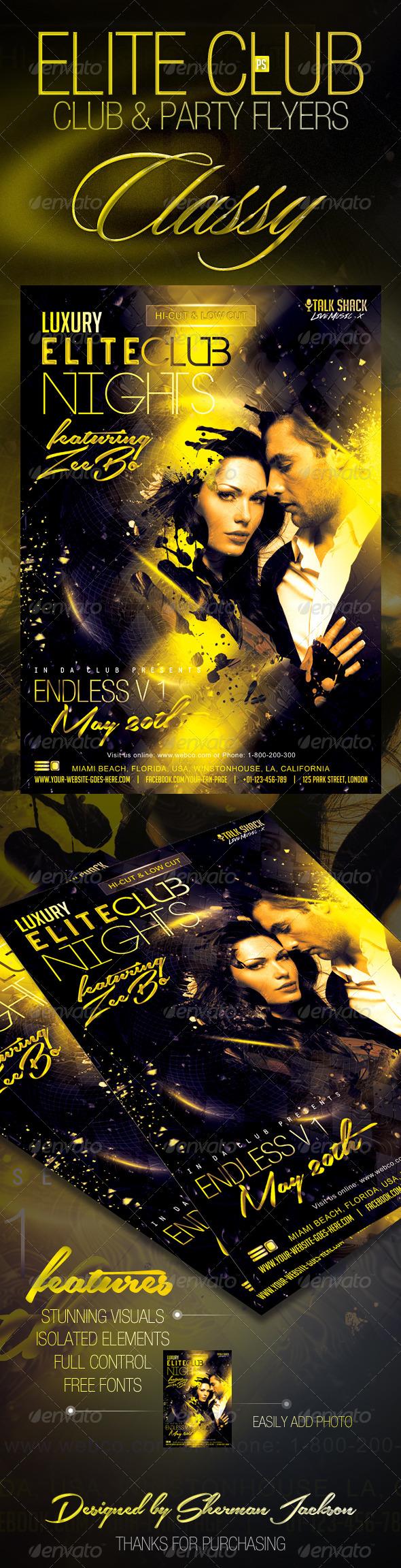 GraphicRiver Luxury Elite Club Nights Flyer 7660407