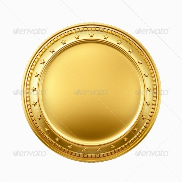 GraphicRiver Gold coin 7660422