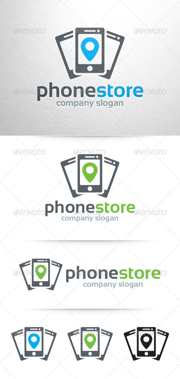 GraphicRiver Phone Store Logo Template 7660675