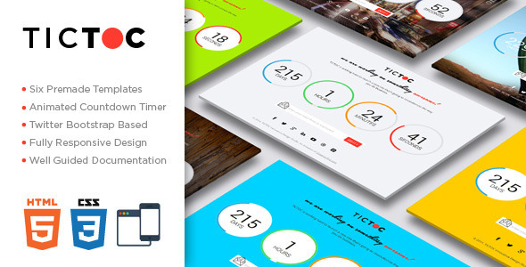 ThemeForest TICTOC Coming Soon Countdown Template 7660765