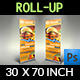 Burger Restaurant Roll-Up - Signage Template Vol4 - GraphicRiver Item for Sale