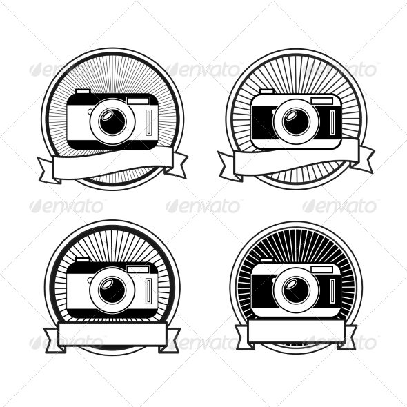 GraphicRiver Black and White Camera Stamps 7660849