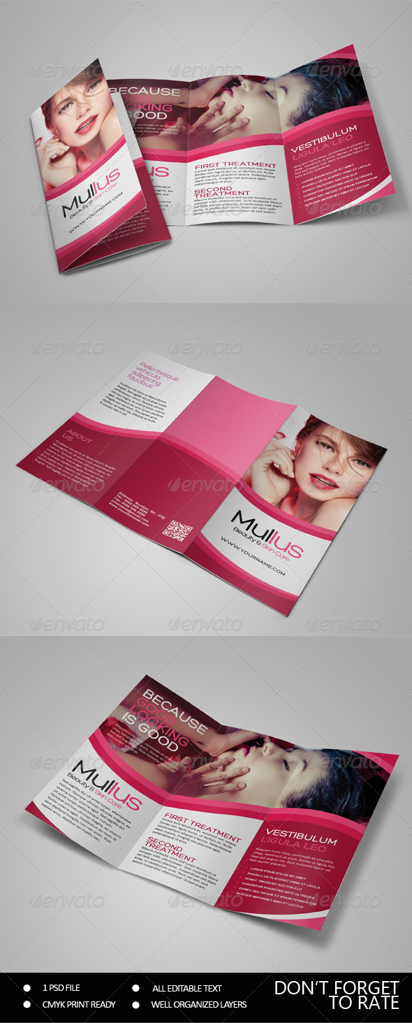 GraphicRiver Beauty Care Trifold 7661266