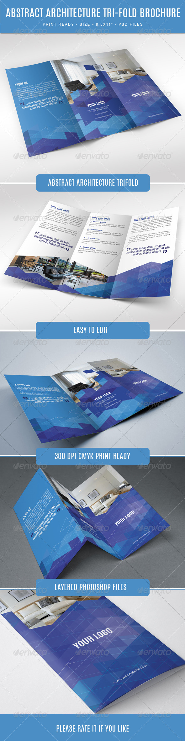GraphicRiver Abstract Architecture Modern Trifold 7661332