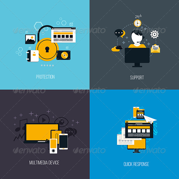 GraphicRiver Icons Concept 7661683