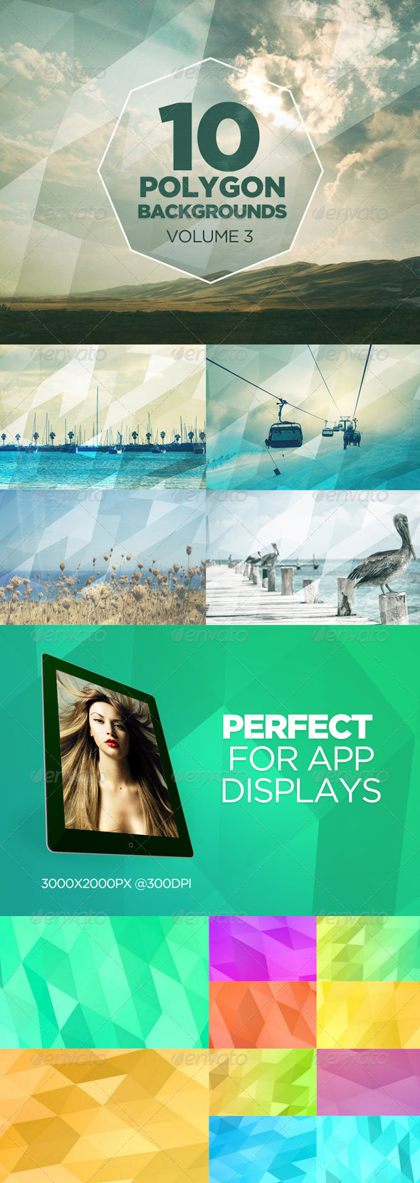 GraphicRiver 10 Polygon Backgrounds Volume 3 7662098
