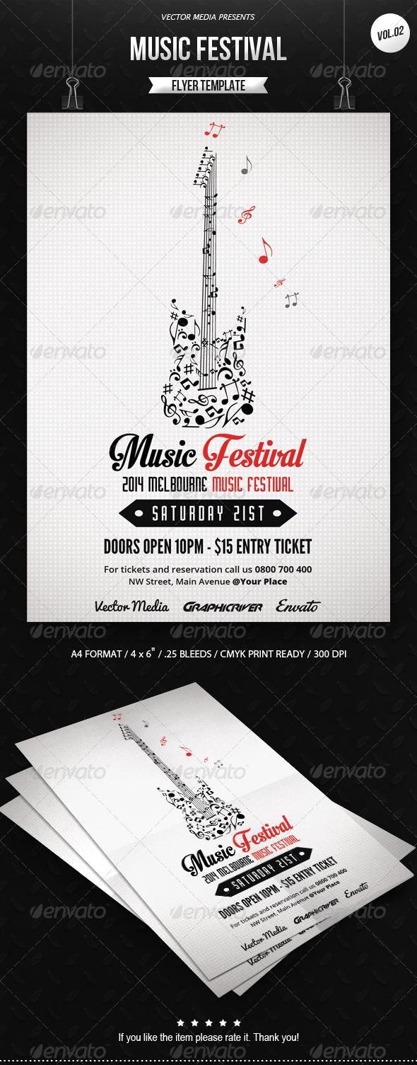 GraphicRiver Music Festival Flyer [Vol.2] 7662256