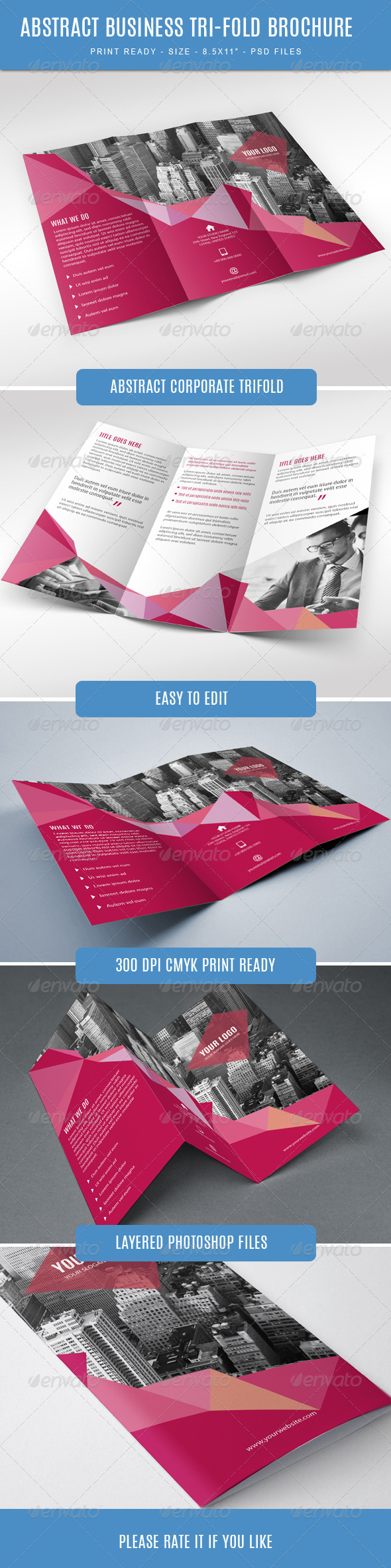 GraphicRiver Abstract Trifold Brochure for Business 7662582