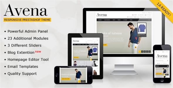 Avena - Responsive Premium Prestashop 1.6 Theme