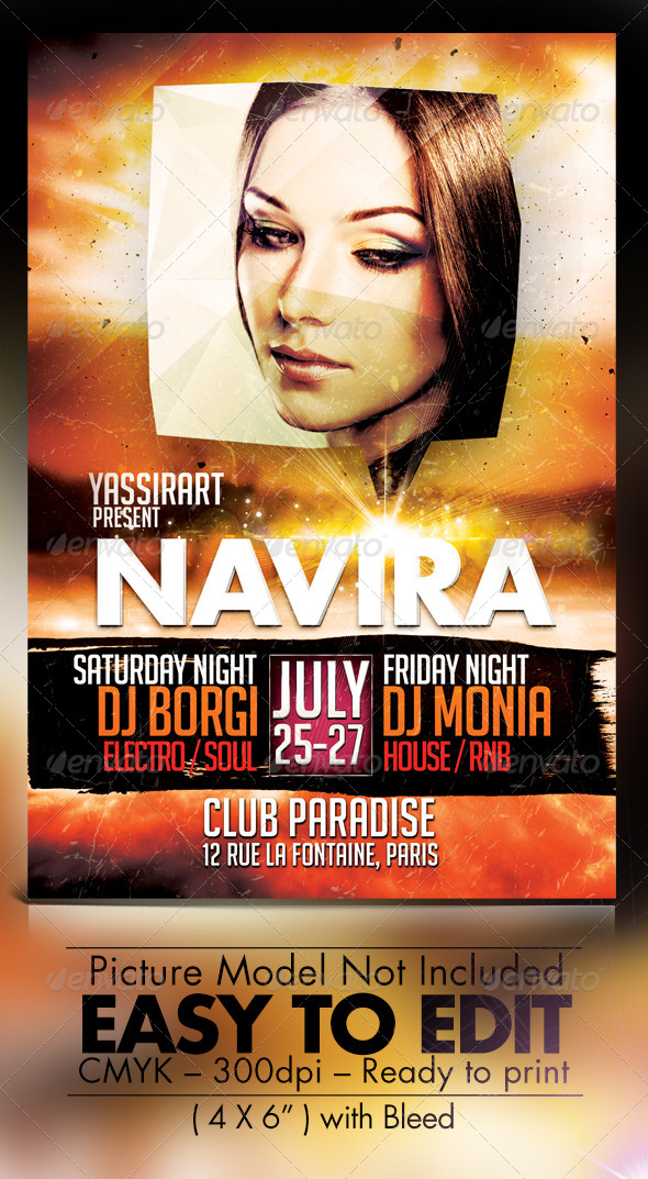 GraphicRiver Navira Party Flyer Template 7662919