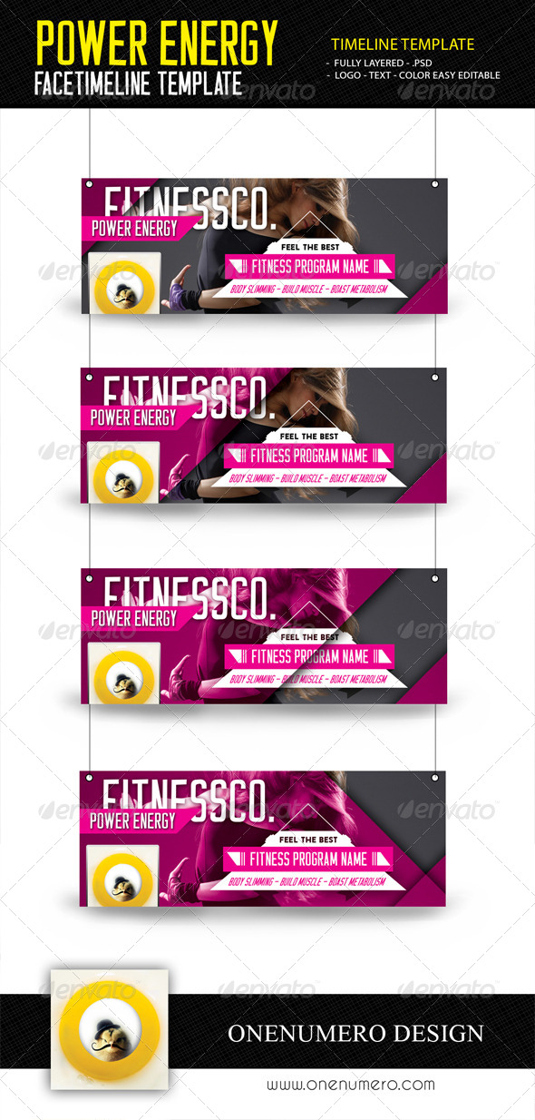 GraphicRiver Power Energy Fitness Facetimeline Templates 7663038