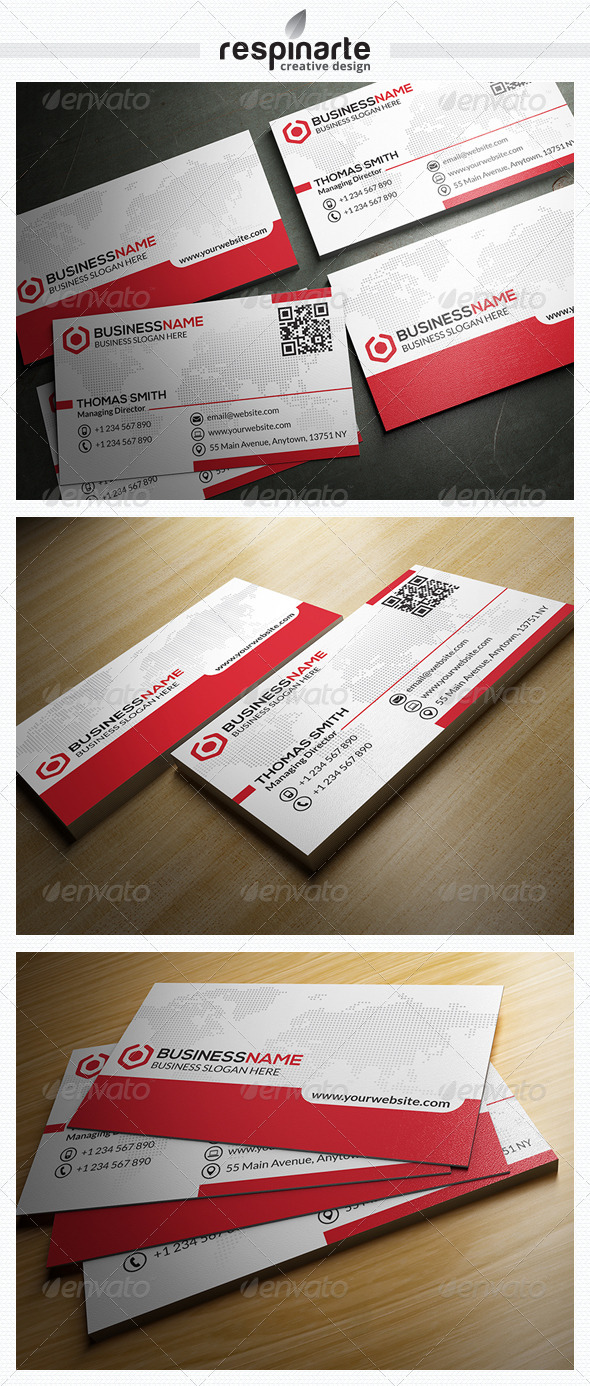 GraphicRiver Corporate Business Card RA20 7663058