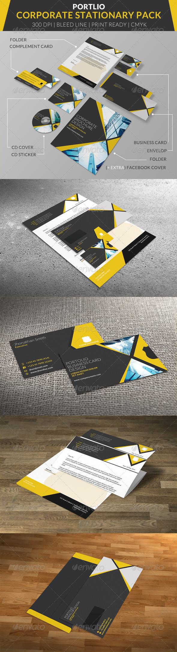 GraphicRiver Portolio Corporate Stationary Pack 7663211