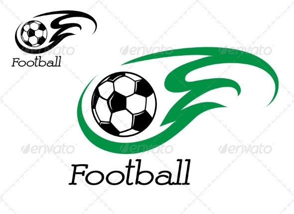 GraphicRiver Soccer Ball with Green Flame 7663351