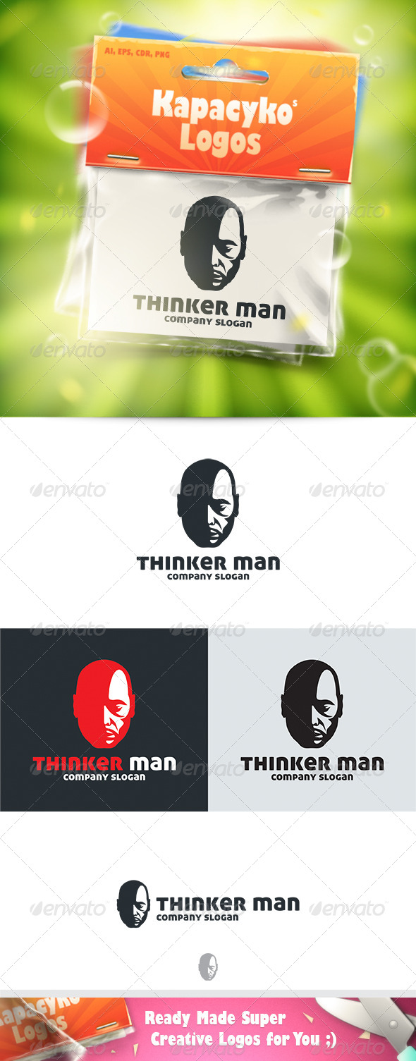 GraphicRiver Thinker Man Logo 7663623