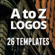 26 Logos from A to Z / Badges / Insignias  - GraphicRiver Item for Sale