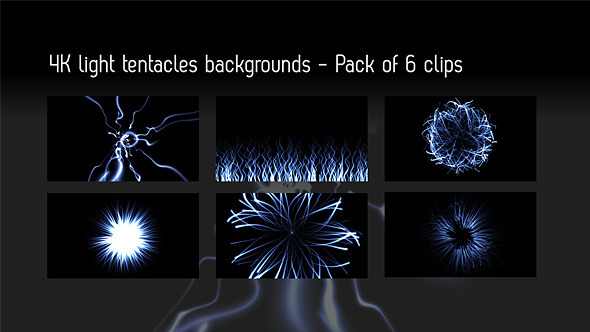 Light Tentacles Backgrounds 6 Videos With Matte