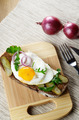 Fried egg open sandwich - PhotoDune Item for Sale