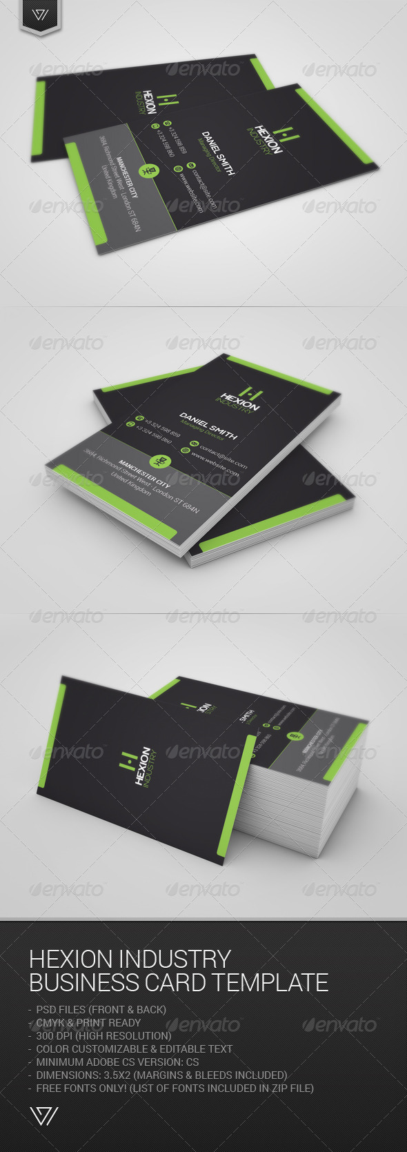 GraphicRiver Hexion Industry Business Card 7663980