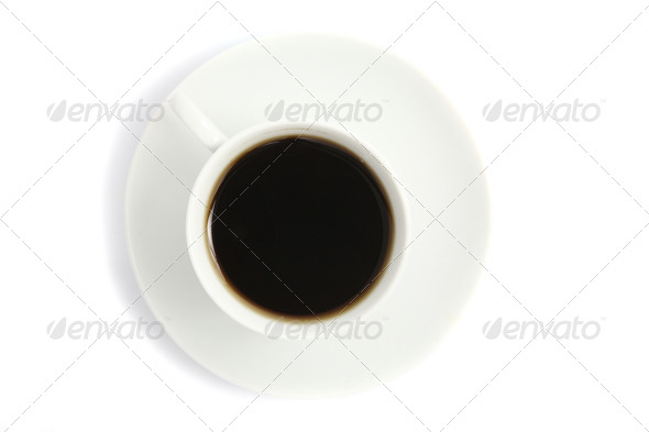 coffee isolated in white background - Stock Photo - Images