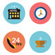 Flat Icons Vector Hotel Icons Set - GraphicRiver Item for Sale