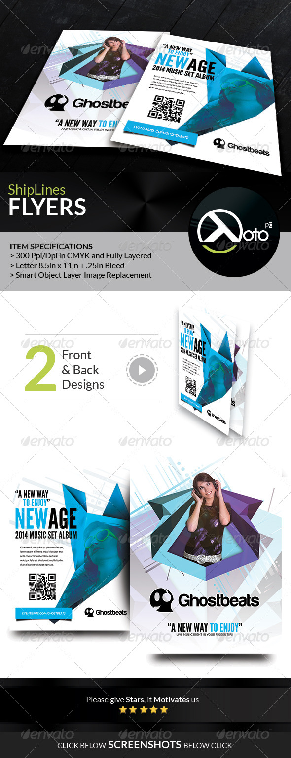 GraphicRiver Ghost Beats Music Downloads Flyer 7664155