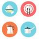 Restaurant Icon Set in Flat Design - GraphicRiver Item for Sale