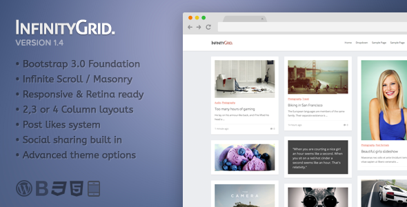 InfinityGrid - Personal blogging theme - Personal Blog / Magazine