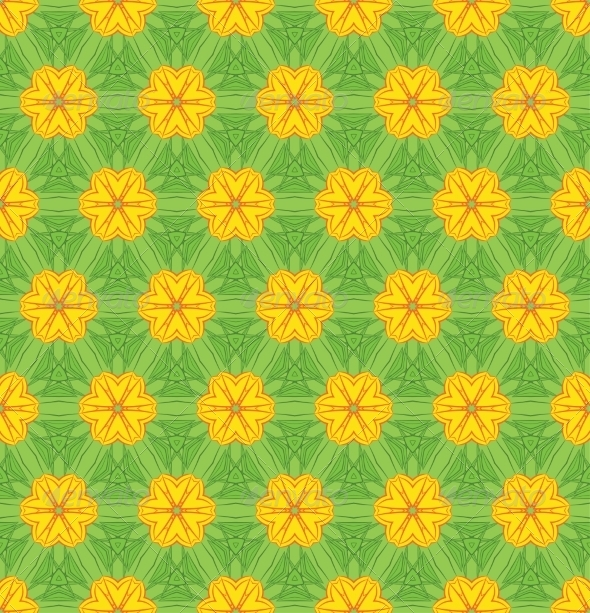 GraphicRiver Seamless Colorful Floral Pattern Background 7664411