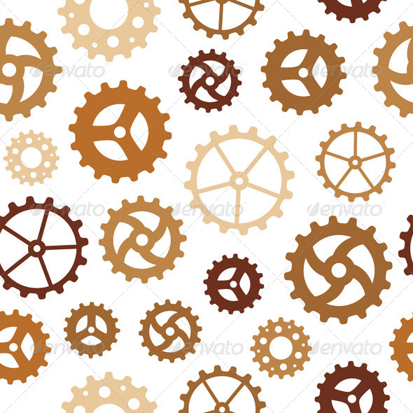 GraphicRiver Different Gearwheels Seamless Background 7654166