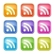 Set of Colorful RSS Icons - GraphicRiver Item for Sale