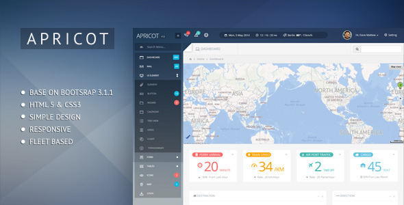 ThemeForest Apricot Bootstrap 3 Admin Dashboard Template 7664475