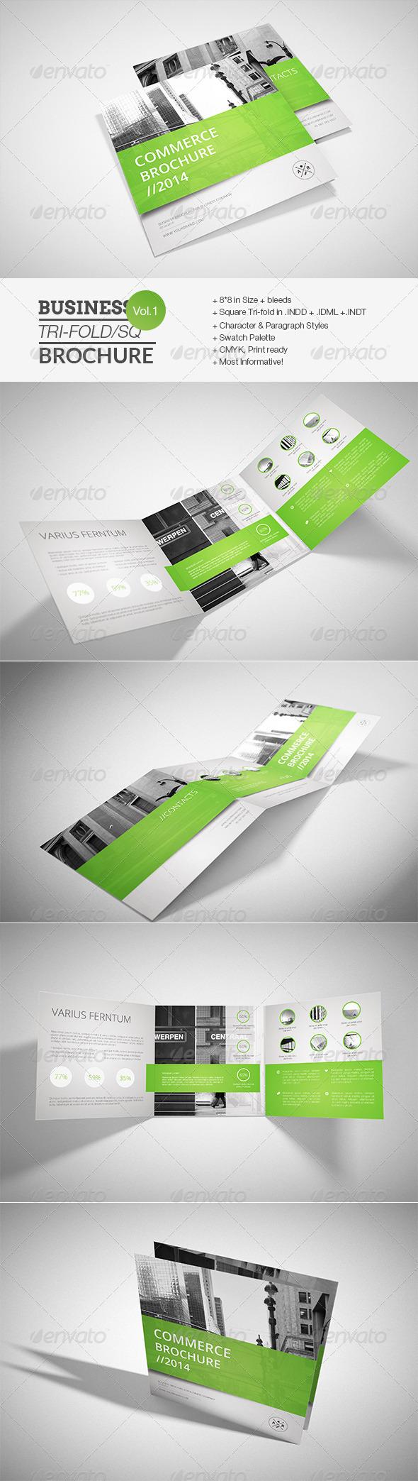 GraphicRiver Business Square Tri-fold Brochure 7664588