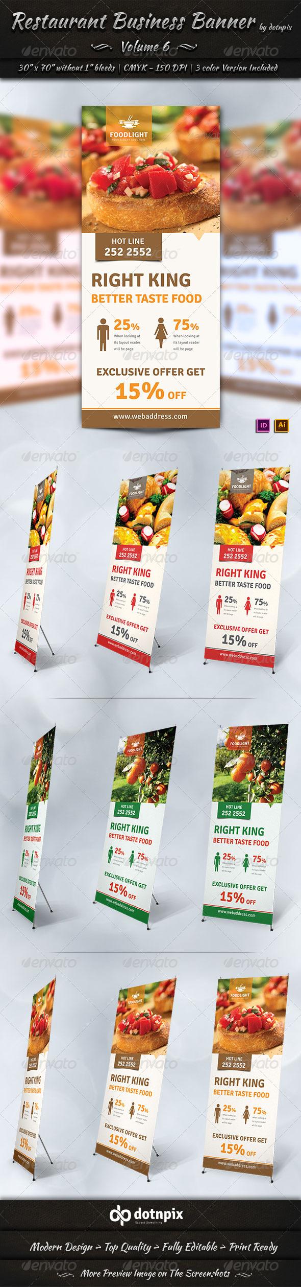 GraphicRiver Restaurant Business Banner Volume 6 7664911
