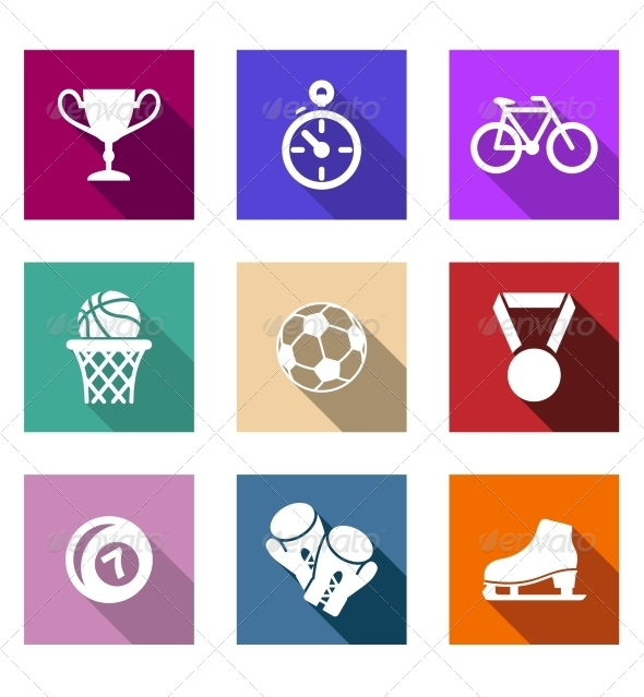 GraphicRiver Flat Sporting Web Icons 7665445