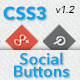 CSS3 Animated Social Media Buttons