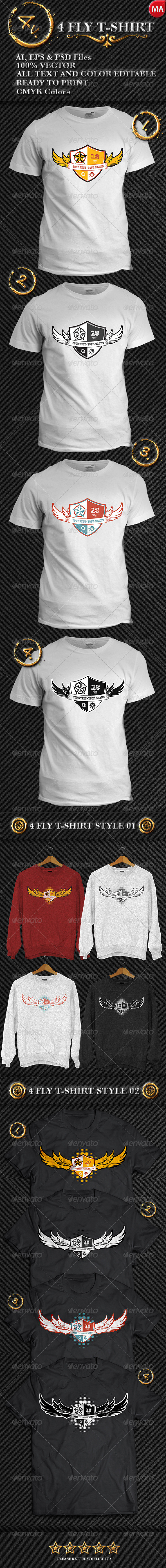 GraphicRiver 4 Fly T-Shirt 7665600