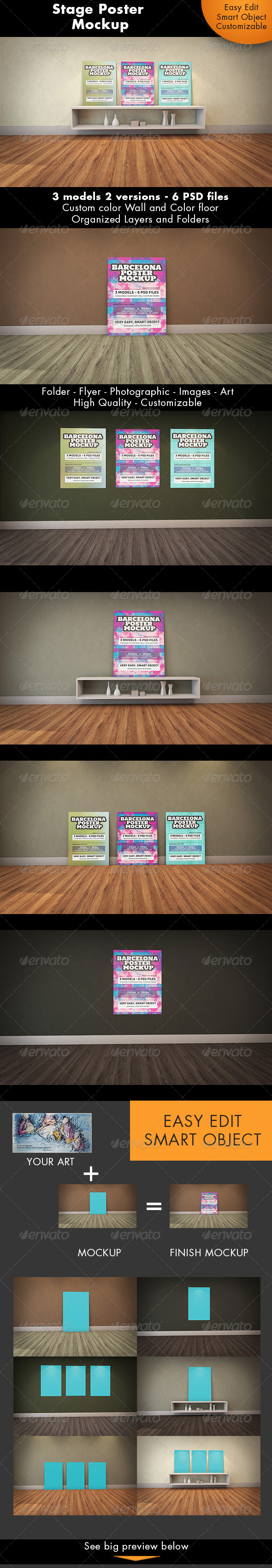 GraphicRiver Stage Poster Mockup 7665904