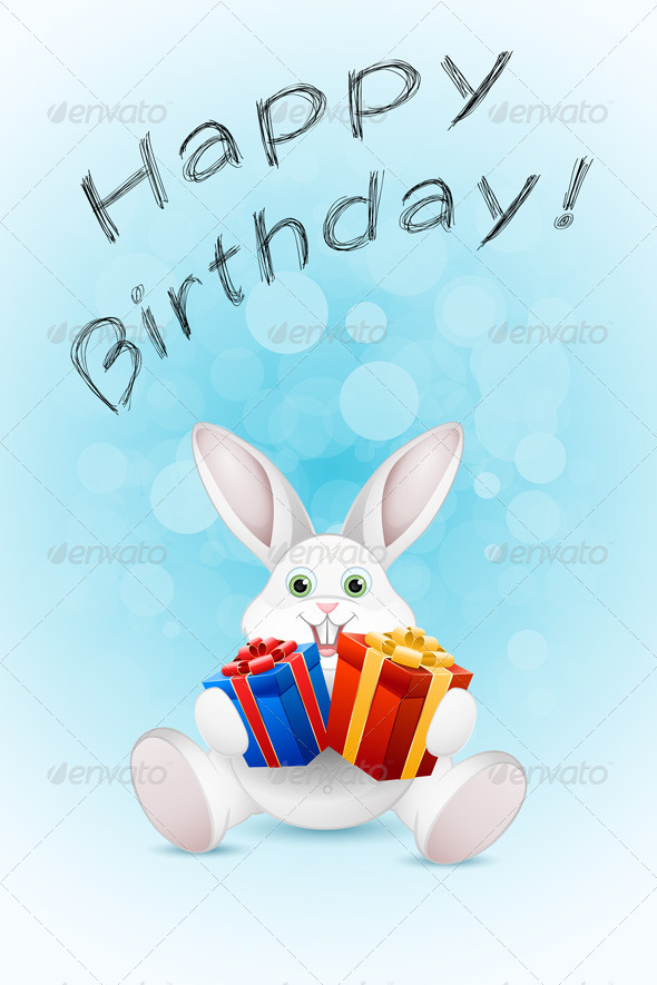 GraphicRiver Happy Birthday Card with Gift 7665950