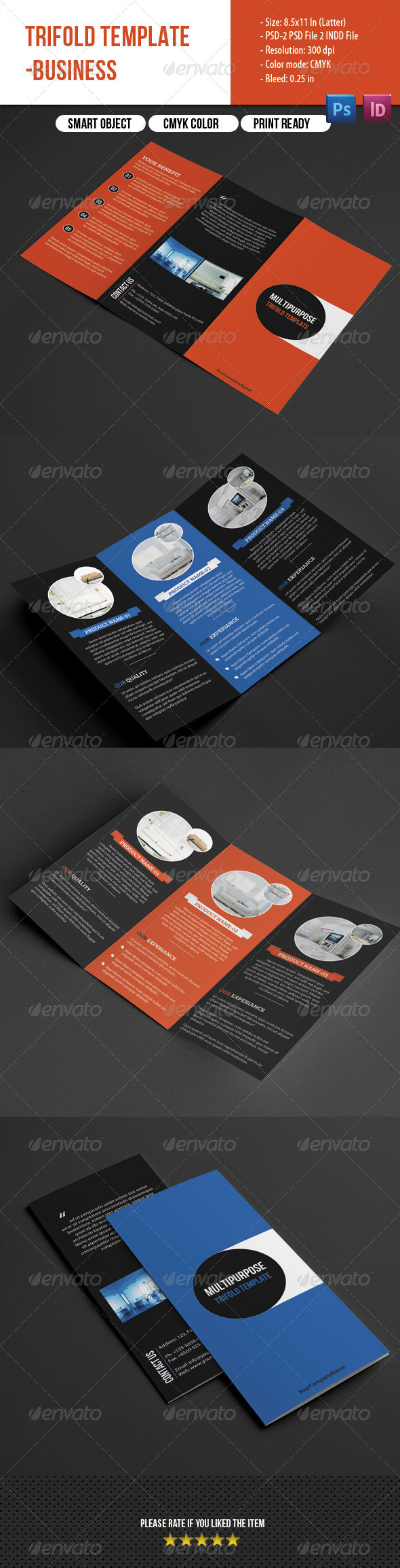 GraphicRiver Multipurpose Trifold Brochure 7666156