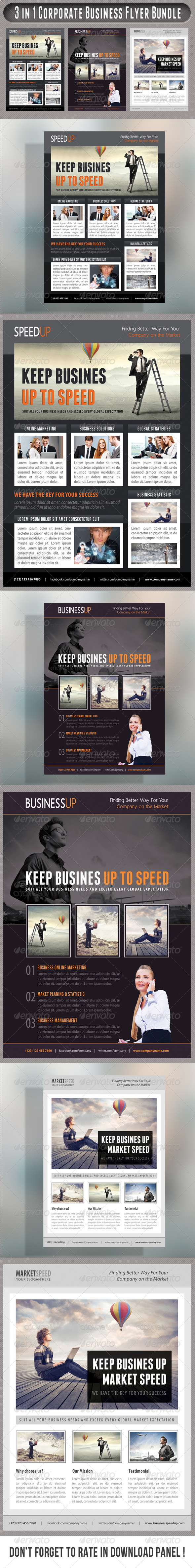 GraphicRiver 3 in 1 Corporate Flyers Bundle 20 7666340
